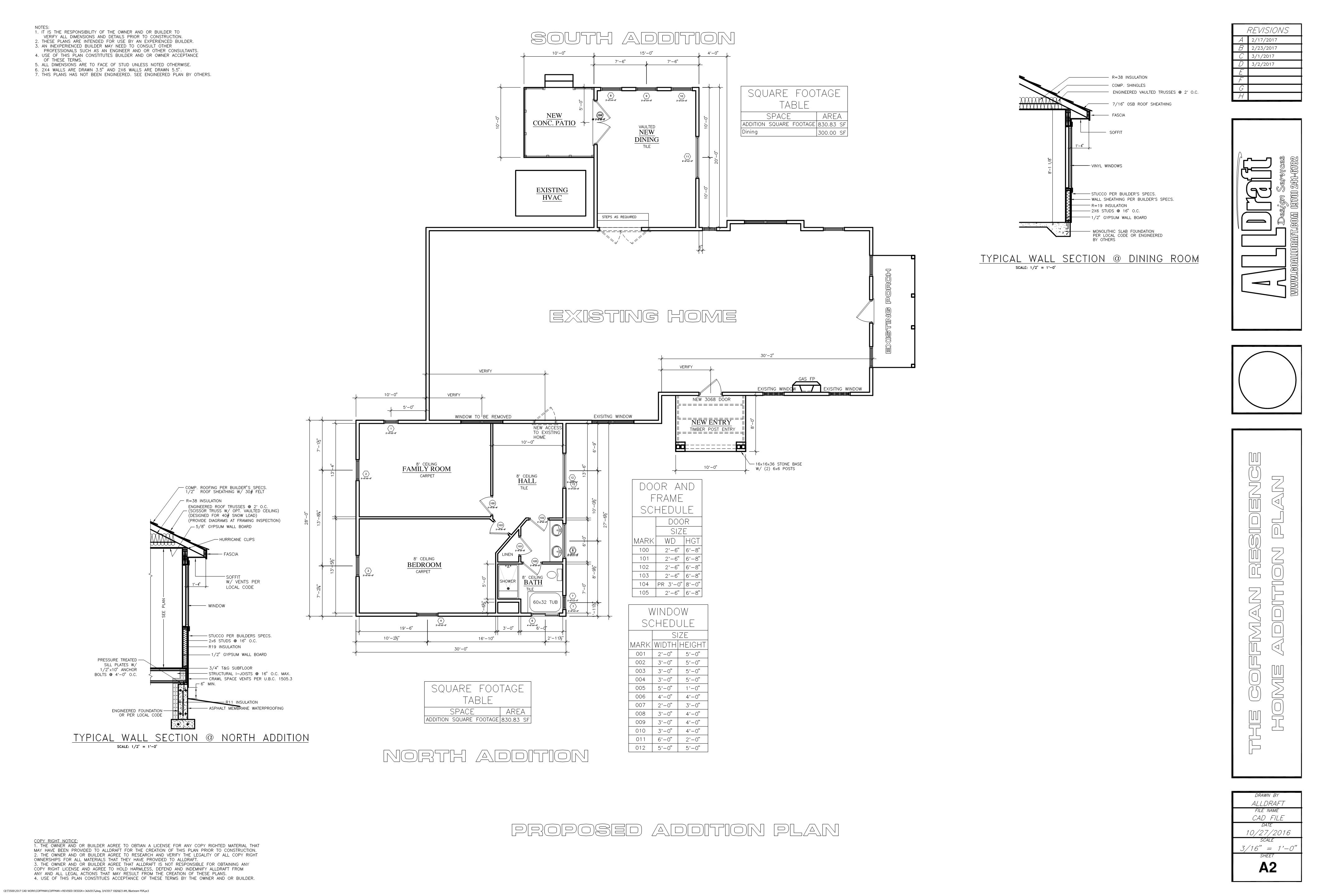 REMODEL AND ADDITION PLANS - Autodraft Home Design and Drafting
